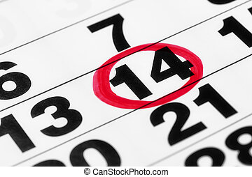 pennarello, data, calendario, rosso