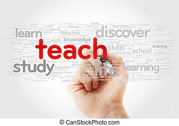 pennarello, insegnare, parola, nuvola