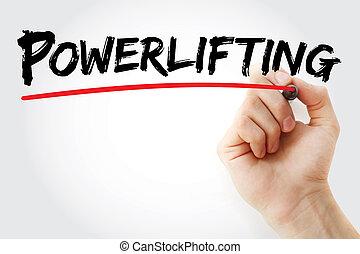 pennarello, mano, powerlifting, scrittura
