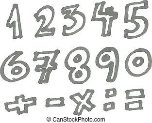 pennarello, numeri