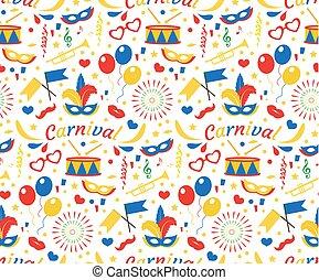 Brasile Wallpaper Illustration Blu Carnevale Festival