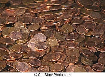 Pennies - A pile of pennies