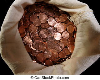 Pennies in a Sack