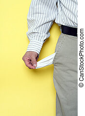 Penniless - No money in the pocket, can be used to describe ...