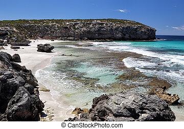 Coastal landscape in Pennington Bay on Kangaroo Island, South Australia, Australia.