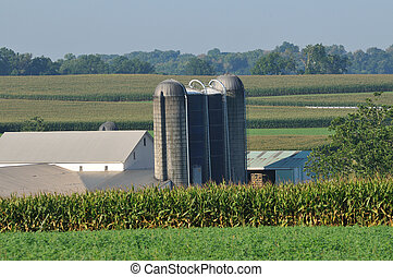 Pennsylvania farm with silo