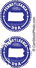 pennsylvania, frimärken, usa