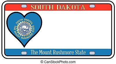 Pennsylvania License Plate - South Dakota license plate in...