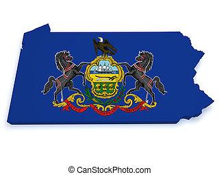 Pennsylvania Map 3d Shape