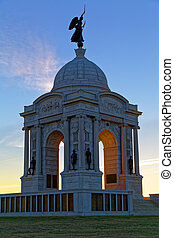 Pennsylvania Monument at Sunrise