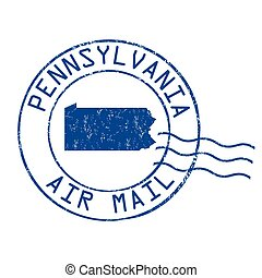 Pennsylvania post office, air mail stamp