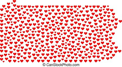 pennsylvania progettano, stato, mosaico, valentina