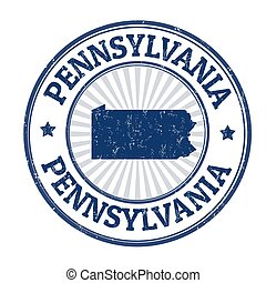 Pennsylvania sign or stamp