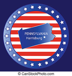 Pennsylvania state map