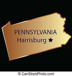 Pennsylvania state usa map