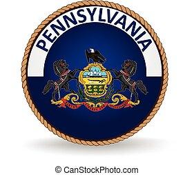 pennsylvanie, état, cachet
