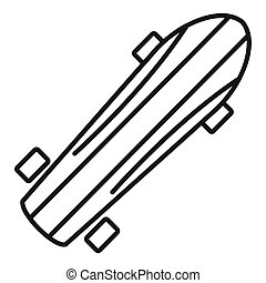 Penny board icon, outline style