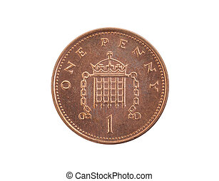 Penny coin isolated