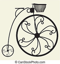 Penny-Farthing Bicycle Vector