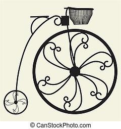 penny-farthing, fiets