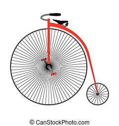 Penny farting bike. Retro bicycle.