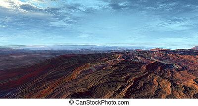 Penon - 3D rendered Scifi Landscape.