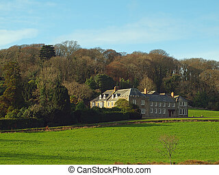 The main house on the Penrose Estate near Helston and Porthleven in Cornwall