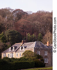 The manor house on the Penrose Estate near Helston in Cornwall