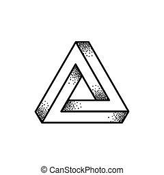 penrose, illustration, triangle