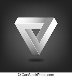 Penrose triangle abstract symbol