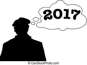 pensée, 2017, homme
