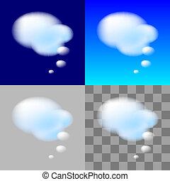 pensée, bulles