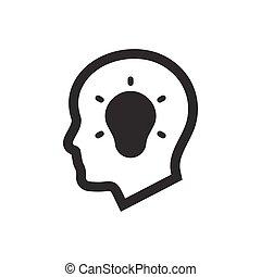 pensée, créatif, icône