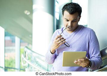 pensée, dur, sur, les, tablette