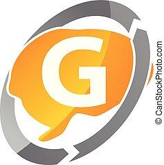 pensée, lettre g, créatif
