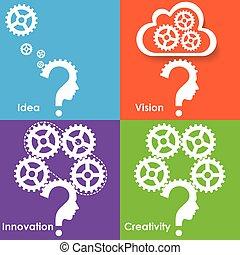 pensée, processus, business, réussi