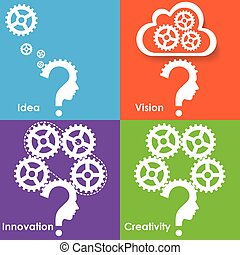pensée, processus, pour, réussi, business