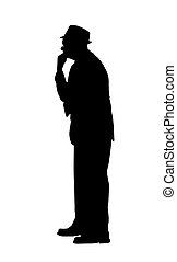 pensée, silhouette, homme