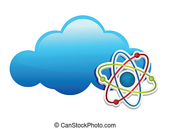 pensée, sur, chimie, nuage