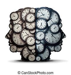 pensée, temps, réunion