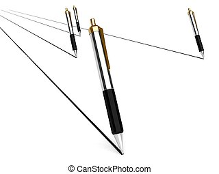 pens - 3d pens with white background