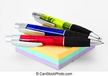 Pens to write - Pen to write on a white background