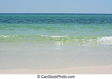 Pensacola Beach in Escambia County Florida, on the Gulf of Mexico, USA