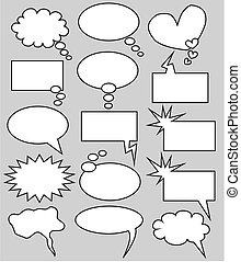 pensamiento, burbujas, discurso
