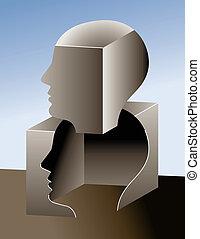 pensamiento, caja, exterior