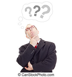 pensamiento, persona, sobre, pregunta, empresa / negocio