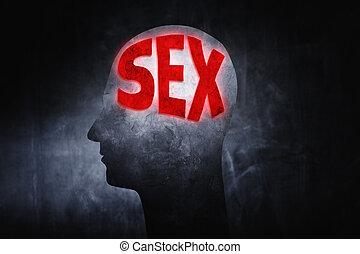 pensamiento, sobre, sexo