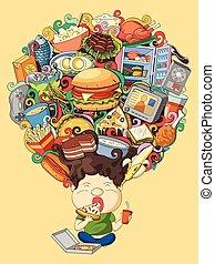pensamiento, sueño, foodie