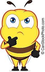 pensando, abelha