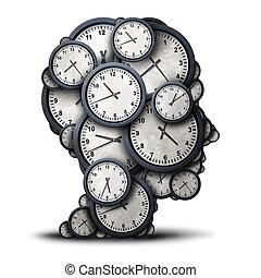 pensando, conceito, tempo